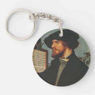 Hans Holbein - retrato de Bonifacio Amerbach Llavero Redondo Acrílico A Una Cara