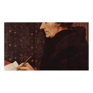Hans Holbein - retrato de Erasmo Plantillas De Tarjetas Personales