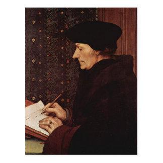 Hans Holbein - retrato de Erasmo Tarjetas Postales