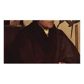 Hans Holbein - retrato de Nicholas Kratzer Tarjeta Personal