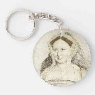 Hans Holbein - retrato de señora Maria Guildford Llavero Redondo Acrílico A Una Cara