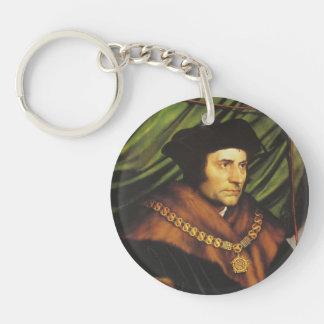 Hans Holbein - retrato de sir Thomas More Llavero Redondo Acrílico A Una Cara