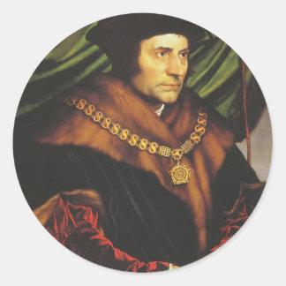 Hans Holbein - retrato de sir Thomas More Etiqueta Redonda