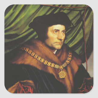 Hans Holbein - retrato de sir Thomas More Calcomania Cuadradas Personalizada