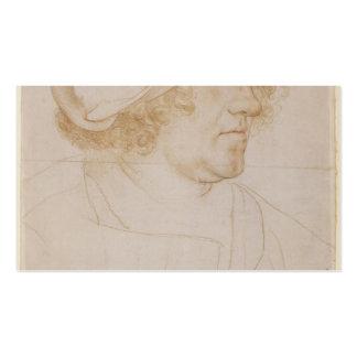 Hans Holbein - retrato del zum Hasen de Jacobo Mey Plantillas De Tarjeta De Negocio