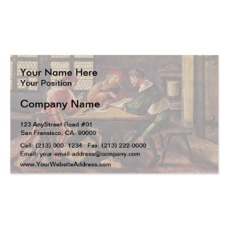 Hans Holbein - Signboard for a Schoolmaster Business Card Templates