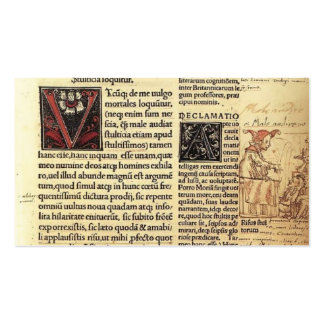 Hans Holbein the Younger- Folly at the Lectern Business Cards