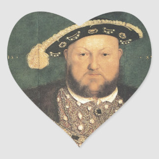 Hans Holbein the Younger Henry VIII Heart Sticker