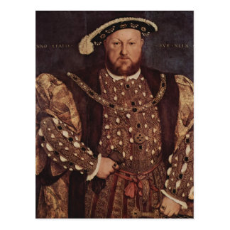 Hans Holbein the Younger- Portrait of Henry VIII Postcard