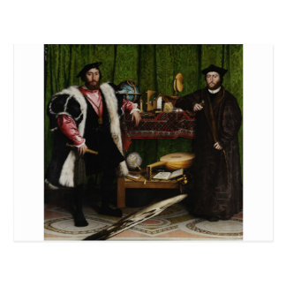 Hans Holbein the Younger's The Ambassadors Postcard