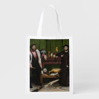 Hans Holbein the Younger's The Ambassadors Reusable Grocery Bag