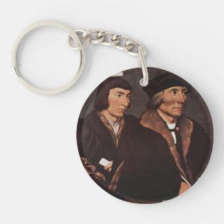 Hans Holbein - Thomas Godsalve de Norwich e hijo Llavero Redondo Acrílico A Una Cara