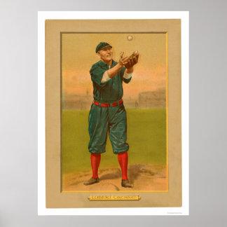 Hans Lobert Reds Baseball 1911 Poster