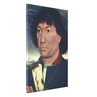 Hans Memling - A man from the Lespinette family Stretched Canvas Prints