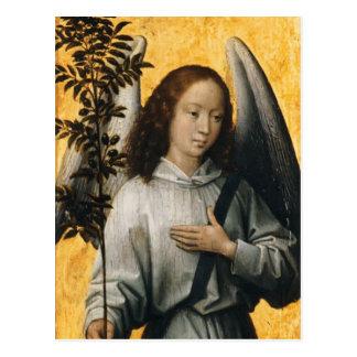 Hans Memling- Angel Holding an Olive Branch Postcard