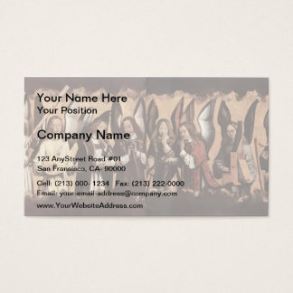 Hans Memling- Angels Playing Musical Instruments Business Card