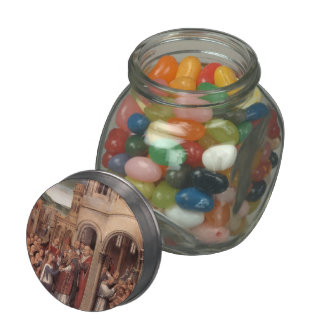 Hans Memling-Arrival of St. Ursula and companions Jelly Belly Candy Jars