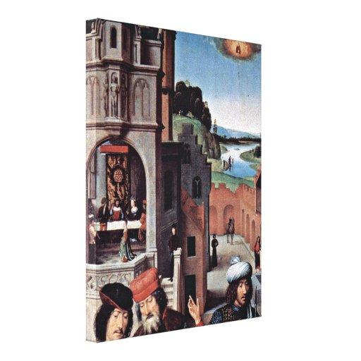 Hans Memling - Beheading of John the Baptist Gallery Wrap Canvas