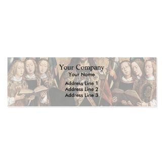 Hans Memling- Christ Blessing, central panel Double-Sided Mini Business Cards (Pack Of 20)