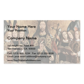 Hans Memling- Christ Blessing, central panel Double-Sided Standard Business Cards (Pack Of 100)