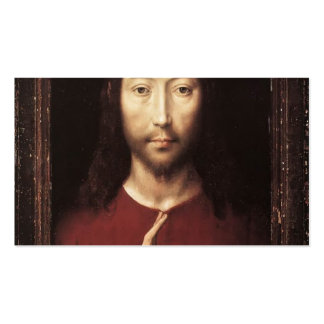 Hans Memling- Christ Giving His Blessing Double-Sided Standard Business Cards (Pack Of 100)
