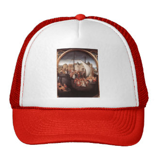 Hans Memling-Departure of Saint Ursula from Basle Trucker Hats
