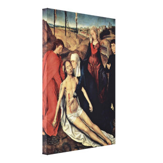 Hans Memling - Lamentation of Christ with Donors Canvas Print