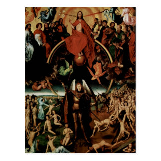 Hans Memling-Last Judgment with Archangel Michael Postcard