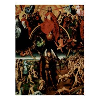 Hans Memling-Last Judgment with Archangel Michael Postcard