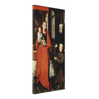Hans Memling - Madonna with StAnthony the Great Canvas Prints