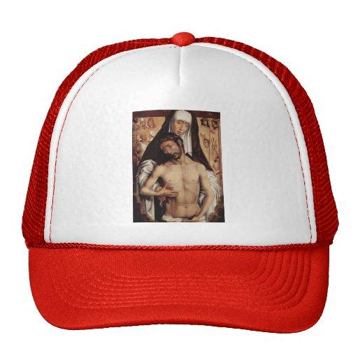 Hans Memling- Man of Sorrows in Arms of the Virgin Mesh Hat