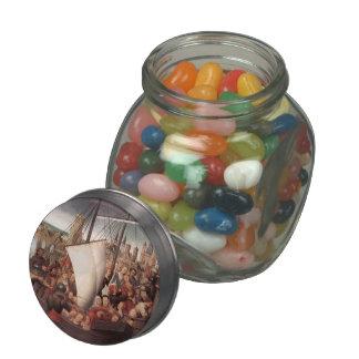 Hans Memling-Martyrdom of St.Ursula and companions Glass Jar