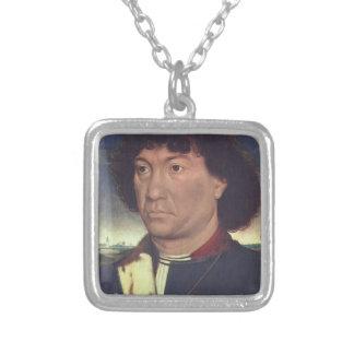 Hans Memling- Portrait of a Man at Prayer Custom Jewelry