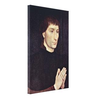 Hans Memling - Portrait of Tommaso Portinari Stretched Canvas Prints