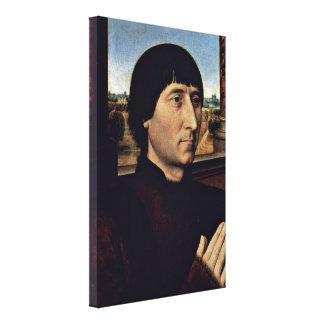 Hans Memling - Portrait of Willem Moreel Stretched Canvas Prints