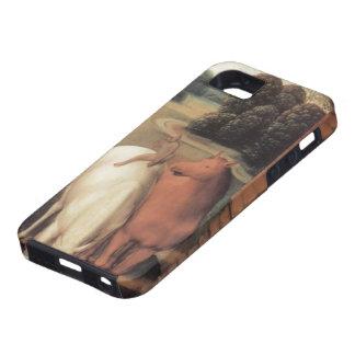 Hans Memling-Representation of horses & a monkey iPhone 5 Cover