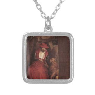 Hans Memling- St Jerome y el león Collar Plateado