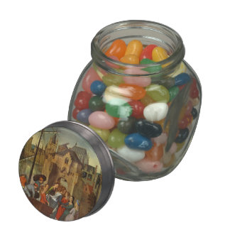 Hans Memling- St. Ursula and her companions Glass Candy Jar