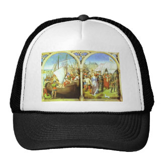 Hans Memling- The Martyrdom of St. Ursula Mesh Hat