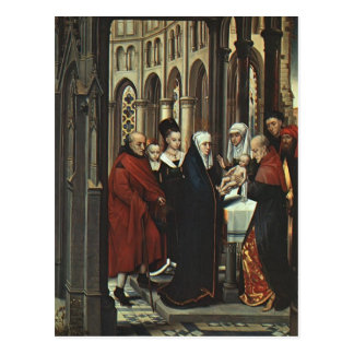 Hans Memling- The Presentation in the Temple Postcard