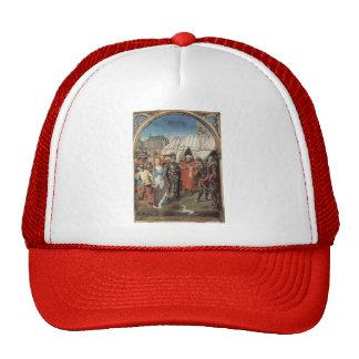 Hans Memling- The Reliquary of St. Ursula Mesh Hat