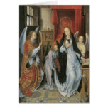 Hans Memling's Annunciation Canvas Print Greeting Card