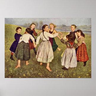 Hans Thoma - Kindergarden Poster