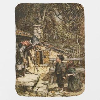 Hansel and Gretal by Arthur Rackham Swaddle Blanket
