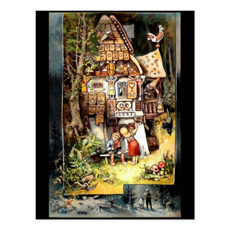 hansel and gretel 2 vintage postcard