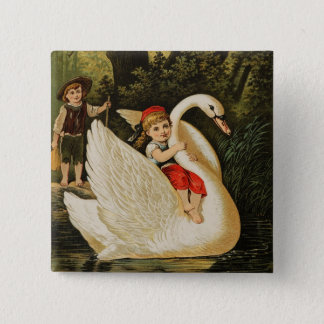 Hansel and Gretel and the Swan Pinback Button