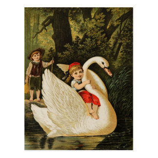 Hansel and Gretel and the Swan Postcard