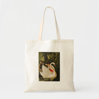 Hansel and Gretel and the Swan Tote Bag