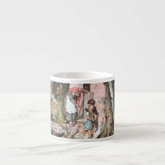 Hansel and Gretel and the Witch at the Door Espresso Mug