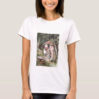 Hansel and Gretel and the Witch at the Door T-Shirt